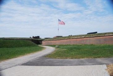 US Flag flying at Fort McHenry