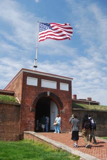 US Flag Flying over Fort McHenry