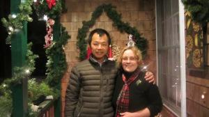 My friend Shengdong & Me