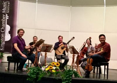 Jason Vieux and string quartet