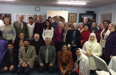 Members of the Kingston Congregational Church with their friends from the Muslim Community Center in Kingston