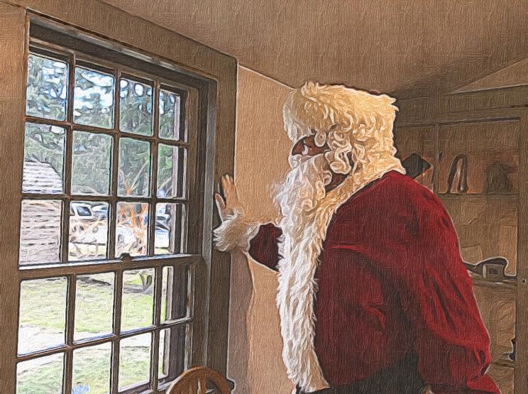 Santa at Mission House