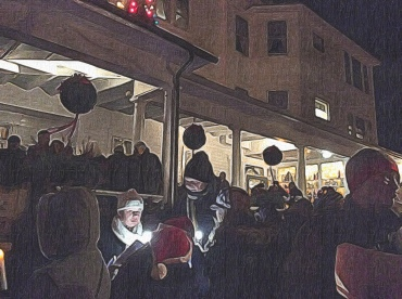 Caroling Outside the Red Lion Inn